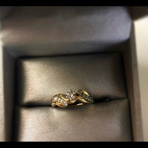 Real 14k Gold Diamond Ring